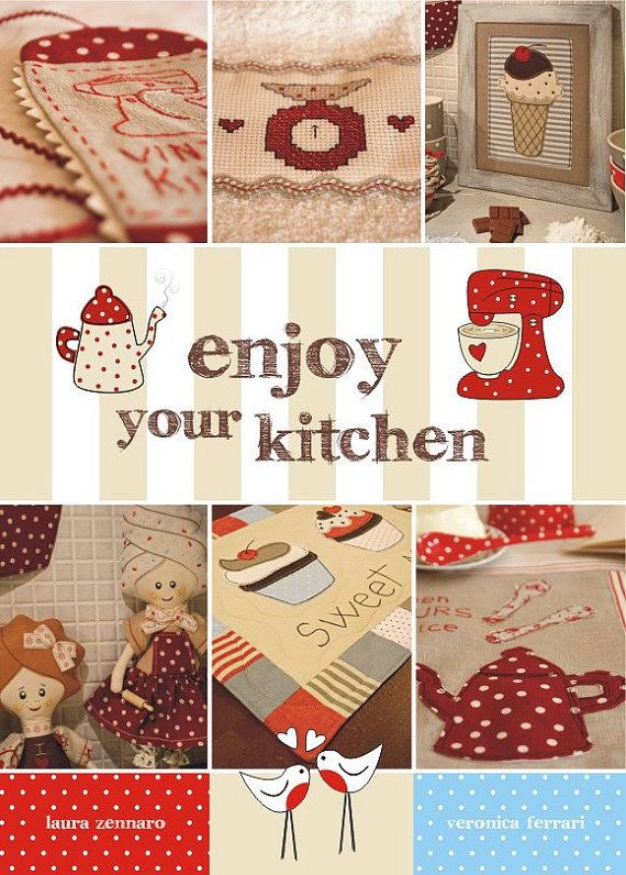 Enjoy your kitchen creative bookseewing by lauracountrystyle, €28.00