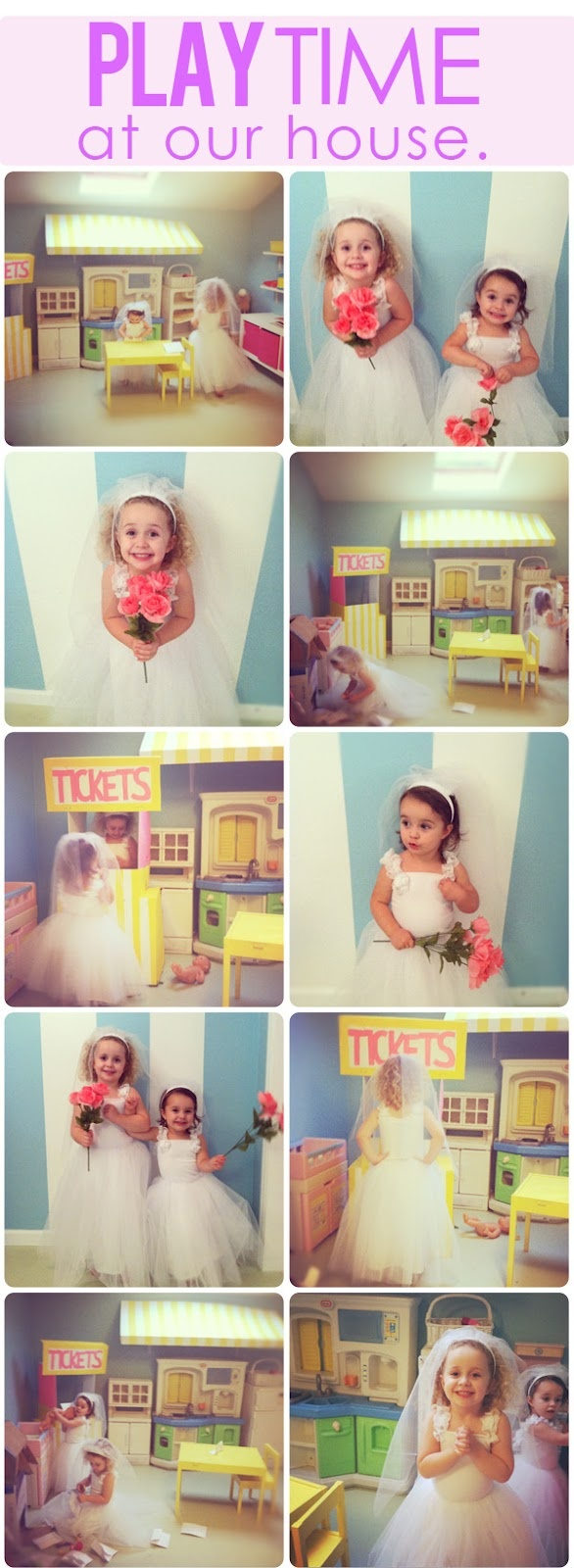 The Busy Budgeting Mama: Play Time at our House (Playroom Peek) & Bride Dress Up Costumes