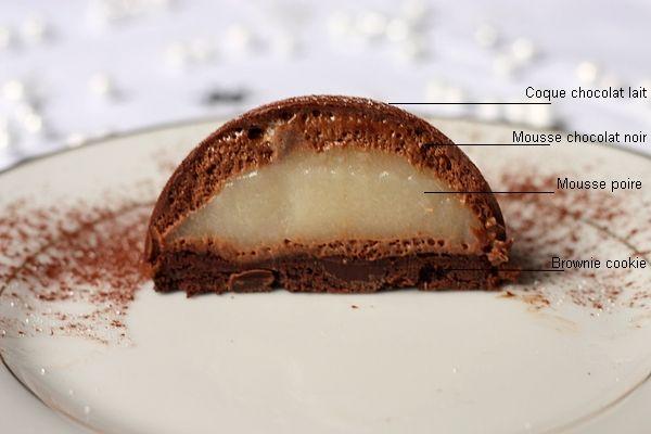 Dome chocolat et poire                                                                                                                                                                                 Plus