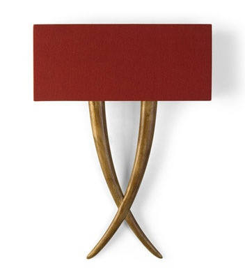 christopher guy furniture - red and gold sconce