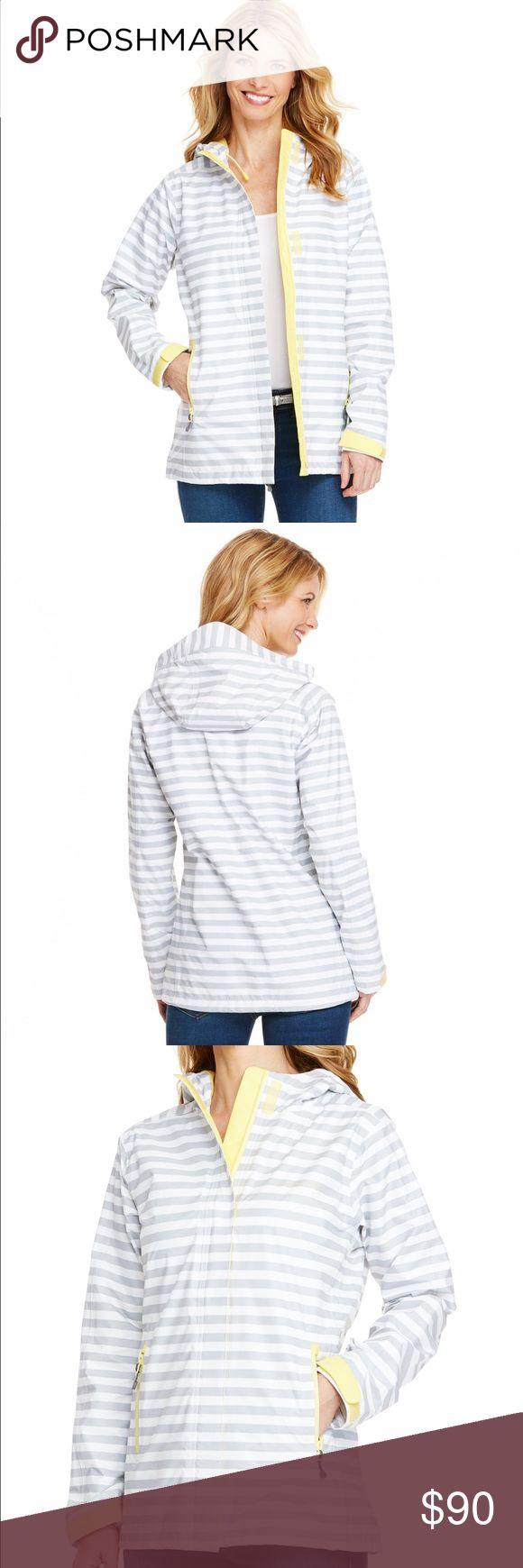 NTW Vineyard vines women's rain jacket NTW Vineyard Vines women's rain jacket. Size XL. Yellow Stow & Go Raincoat. Vineyard Vines Jackets & Coats
