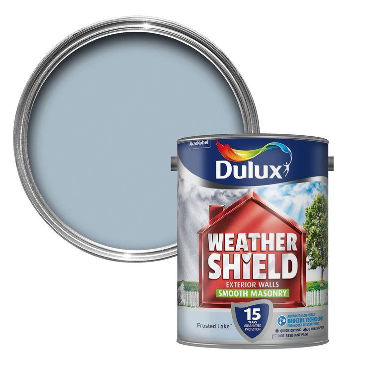 Dulux Weathershield Frosted Lake Blue Matt Masonry Paint 5L | Departments | DIY at B&Q