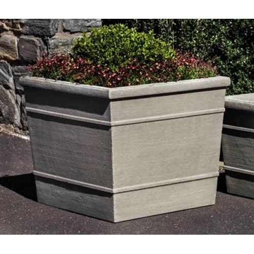 Darby Home Co Kayleen Large Cast Stone Pot Planter Color: Ferro Rustico  Nuovo