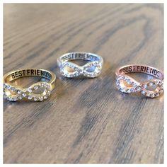 Mejor amigo Infinity Ring / Anillo infinito por SomeLikeItCharmed