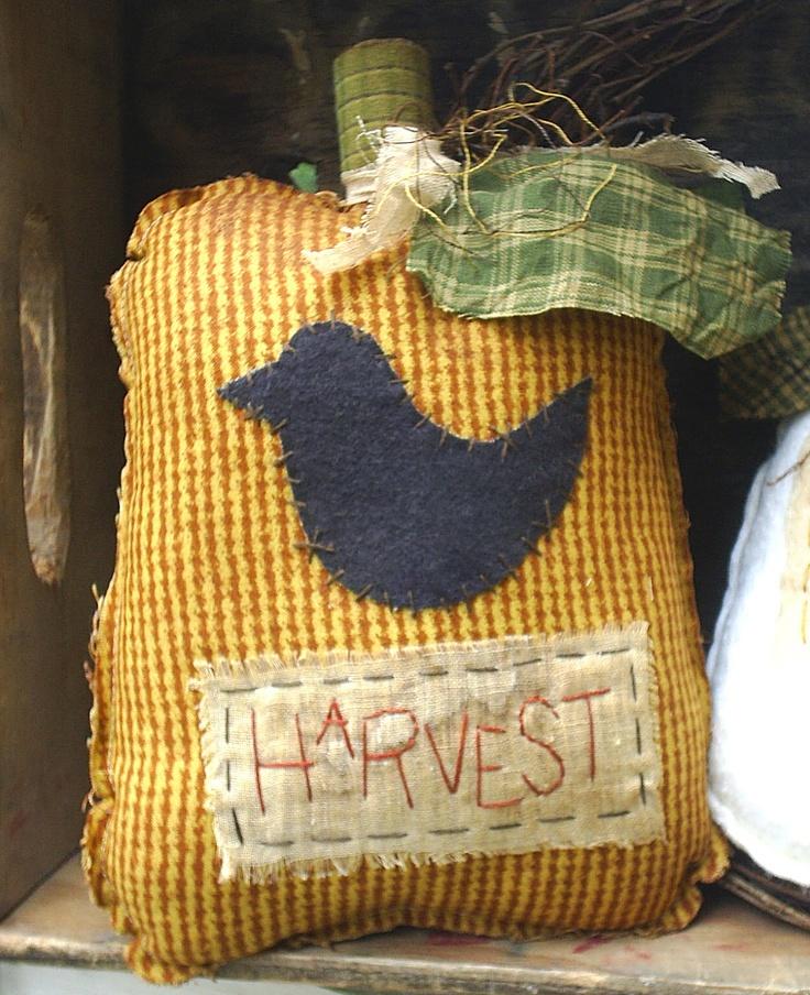 Fall Harvest Primitive Pumpkin Ornie. $15.35, via Etsy.