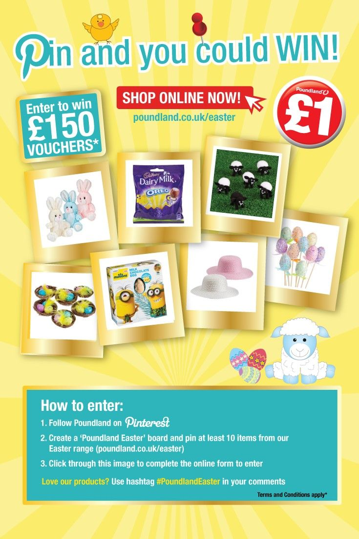 WIN £150 vouchers! Follow the instructions on this image to enter. Click for entry form and terms and conditions.