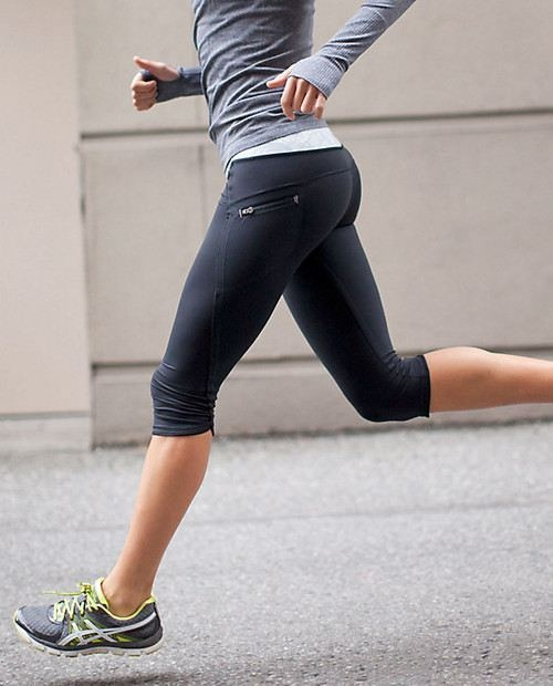 Loving these cropped pants for running