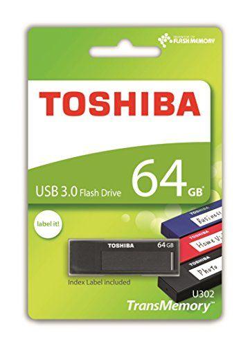 cool Toshiba TransMemory U302 64GB USB 3.0 Black USB flash drive