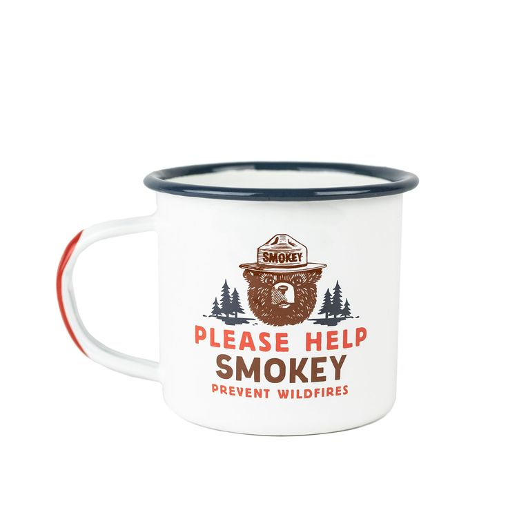 Cool Smokey Bear Only YOU can prevent wildfires ceramic Mug firefighter forest
