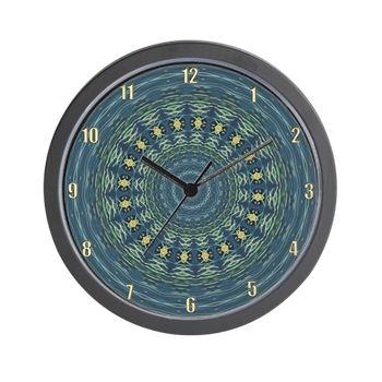 Silver Gull Mandala Clock Wall Clock