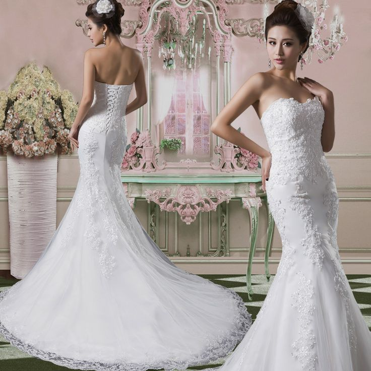 2013 high quality wedding dress fish tail short trailing for Wedding dresses under 150 dollars