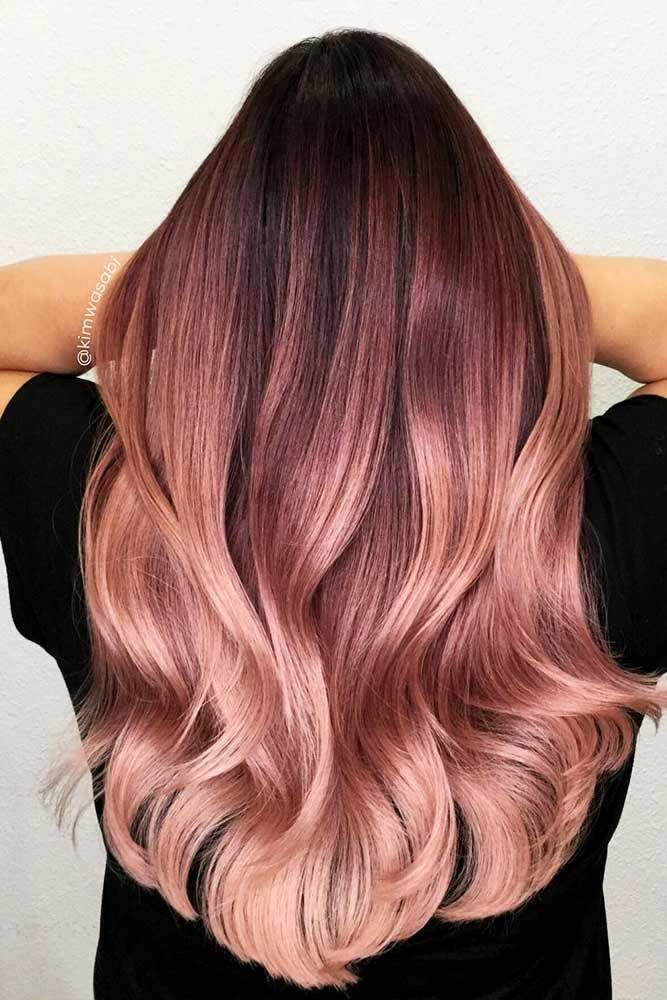 Peachy Shades of Rose Gold Hair ★ You have probably noticed that rose gold hair is in for a while already. And our beaut…