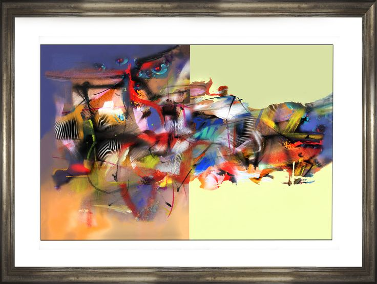 """""""OCEAN  IN DESERT 2014"""" It's like to pray in a desert, a kind of screaming looking for all the conteined love you have...!!! (Mixed Media -watercolor+acrylic+softpastels & inks- on Duotone Digital Print (ask by facebook). Studio para mural."""