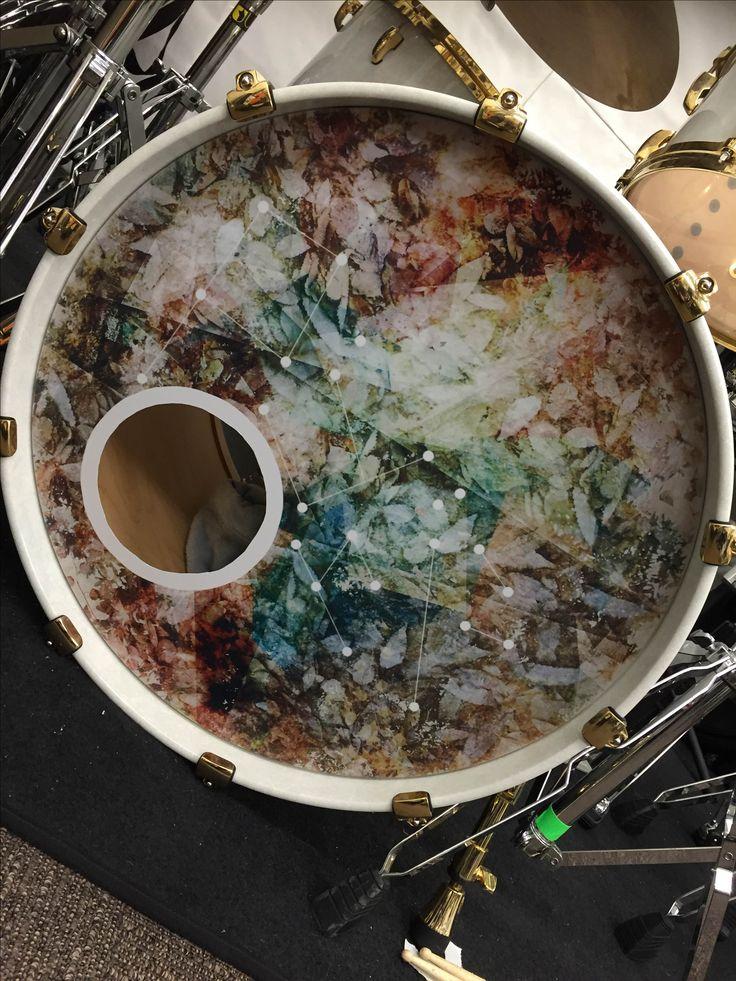 V系バンド ユナイト ドラマー 莎奈様 ドラムヘッドプリント制作実例