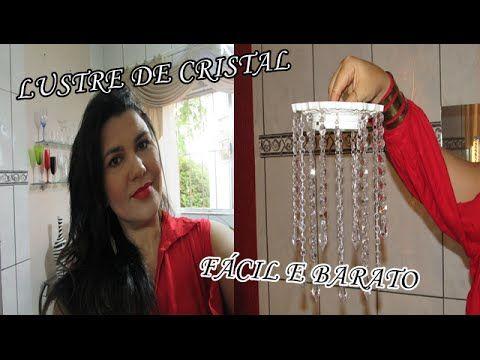 Tutorial : Como fazer um Lustre em MDF ,ganchos, naylon,pedras de cristais - YouTube