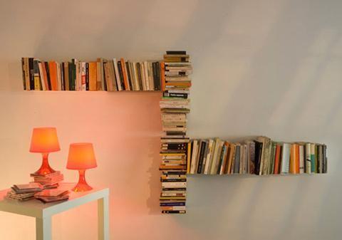 invisible bookcase