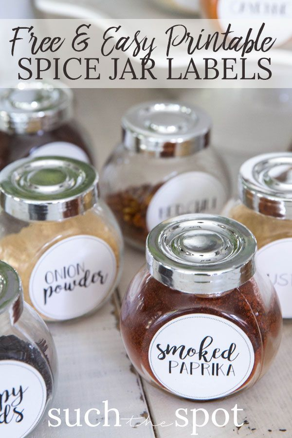 graphic regarding Printable Labels Walmart known as Cost-free Printable Spice Jar Labels Do-it-yourself Craft Enthusiasm