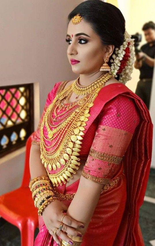 Pin by M. on Kerala wedding | Wedding saree collection