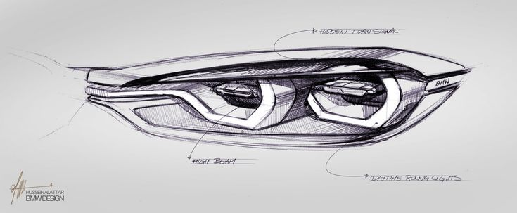 BMW Concept 4 Series Coupe - Headlight Design Sketch