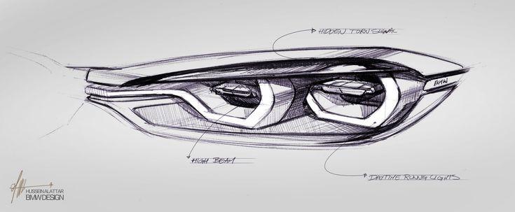 BMW Concept 4 Series Coupe - Headlight Design Sketch