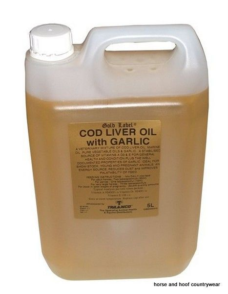 Gold Label Cod Liver Oil with Garlic A mixture of cod liver oil marine oils and pure vegetable oil with the added properties of garlic oil.