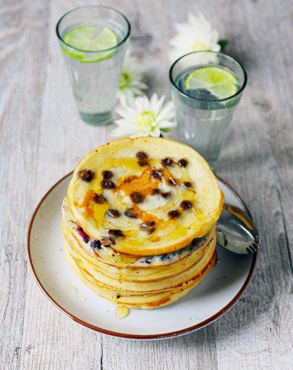 Pancake al cioccolato, avena o mirtilli