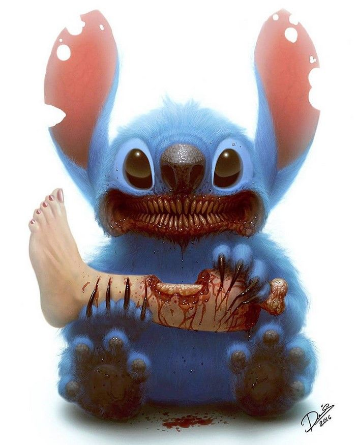 Des personnages de dessins animés en monstres horribles par Dennis Carlsson  Dessein de dessin