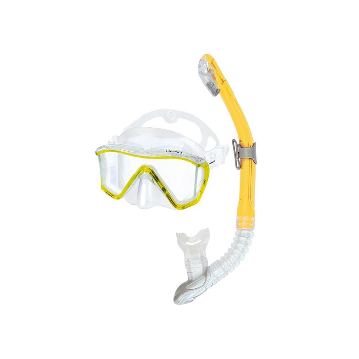 Head 2-pc. Manta Marlin Dry Snorkel Set, Yellow