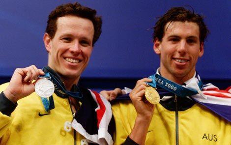 australian swimming champions - Kieran Perkins & Grant Hackett