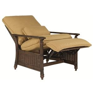Coco Isle Tropical 3 Position Cushioned Recliner Chair by Castelle by Pride Family Brands - Baer's Furniture - Outdoor Chair Miami, Ft. Lauderdale, Orlando, Sarasota, Naples, Ft. Myers, Florida