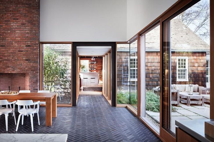 Irrational want: windows like this all along my dining room, from the fireplace to the sliding door.