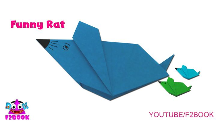 Origami Animals Folding Instructions - How To Fold Rat - F2BOOK Video 164