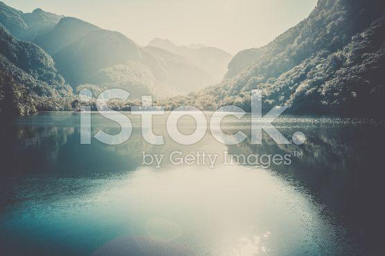 Doubtful Sound Landscape, South Island, New Zealand royalty-free stock photo