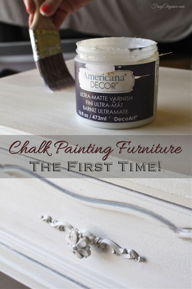 Chalk Painting Furniture First Time Basics with Americana Decor Chalky Finish- FrugElegance #decoartprojects