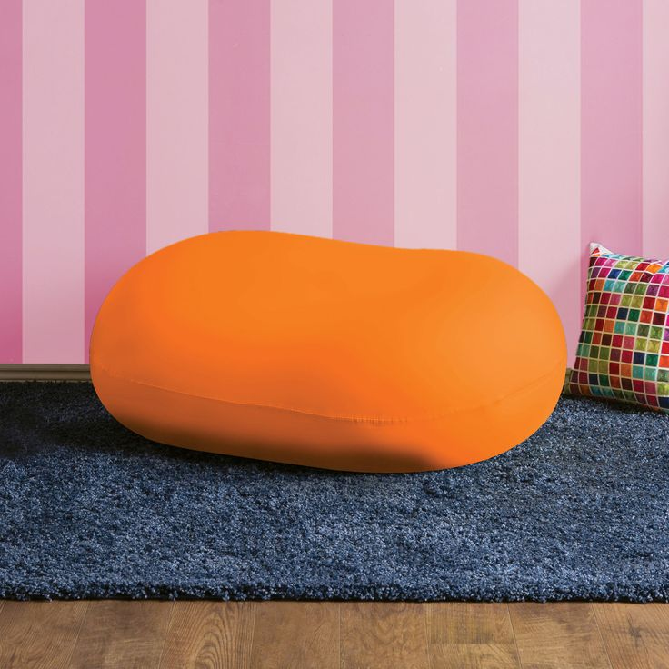Marlet Contemporary Bean Bag Chair in Orange