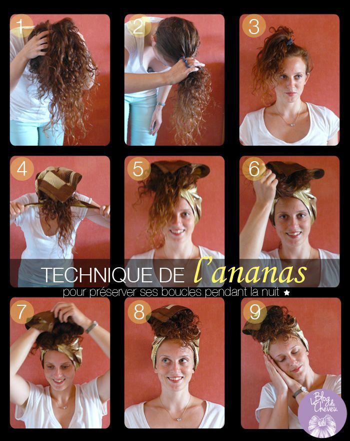 Le blog du cheveu: Coiffure ananas : protéger ses boucles pendant la nuit