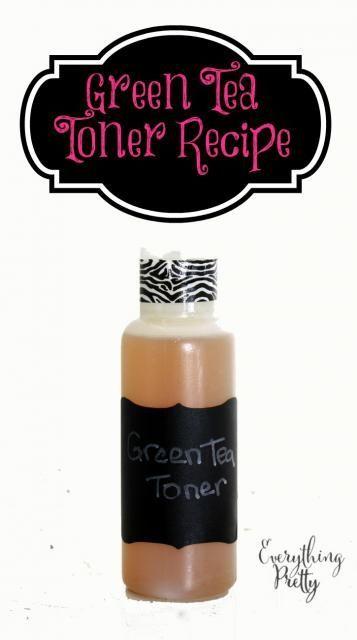 Green tea toner recipe for acne prone or oily skin.