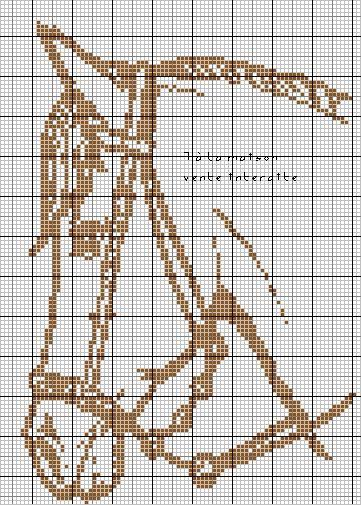 point de croix monochrome - Cerca con Google