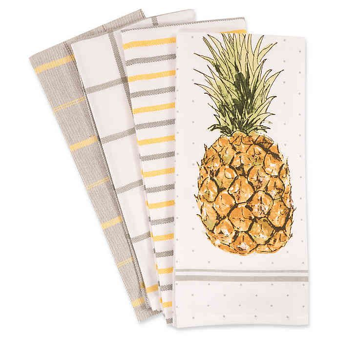 Pineapple Kitchen Towels (Set of 4) | Pineapple kitchen decor