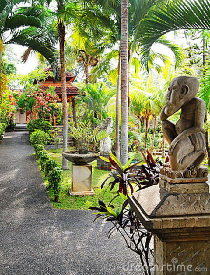 Balinese Garden Landscaping Royalty Free Stock Photography - Image: 13369637