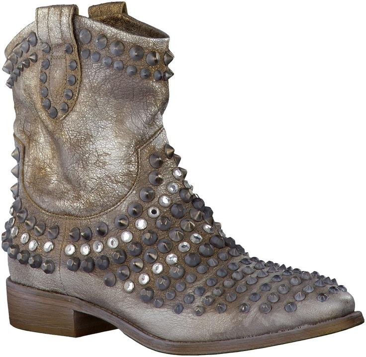 Zilveren STRATEGIA korte laarzen A1509