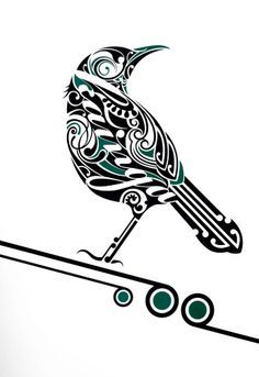 simple maori designs tui - Google Search