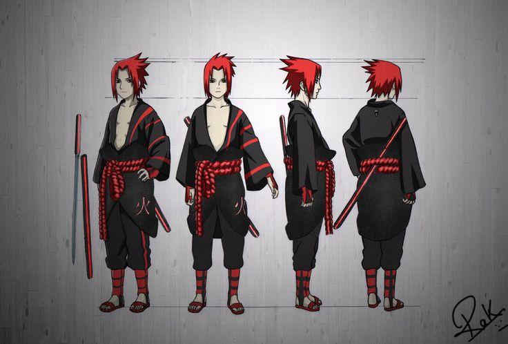 Character Design Tutorial Manga : Sasuke model sheet new look by rakgameboy viantart