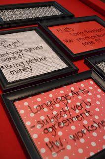 DIY Dry Erase Picture Frames