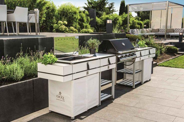 Die Outdoorküche In Weiß Mit Grill Von OCQ | Küchen Ideen U0026 Bilder |  Pinterest