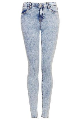 MOTO Acid Wash Leigh Jeans - Jeans - Clothing