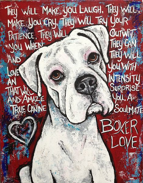 16x20 Boxer Love by steffeg on Etsy, $145.00