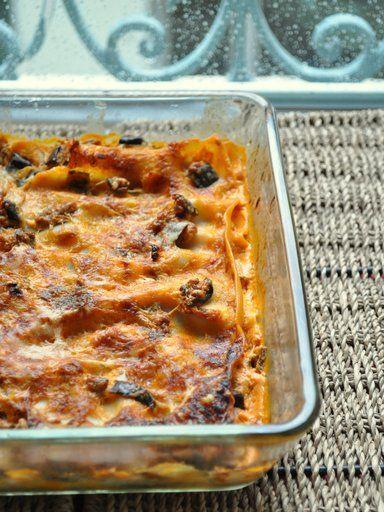Lasagnes aux aubergines légères express - Recette de cuisine Marmiton : une recette