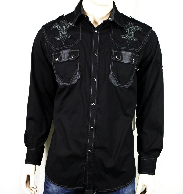 Roar men s shirt challenger embroidered button down