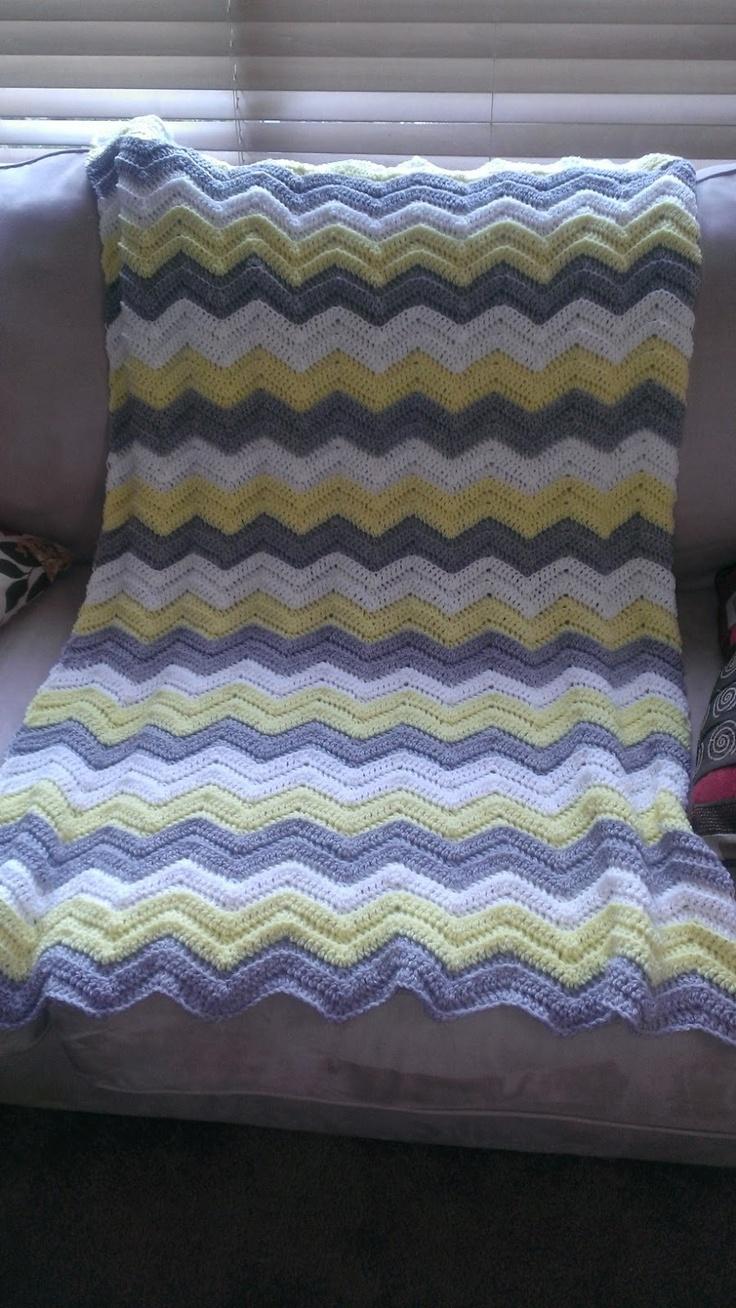 On Pans and Needles: Crochet Chevron Blanket
